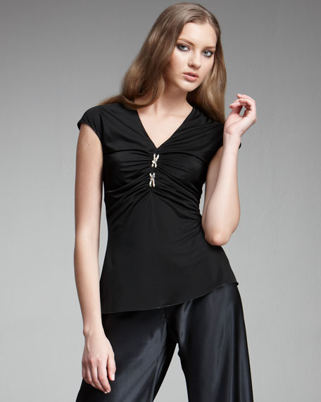 Ruched-Front Top
