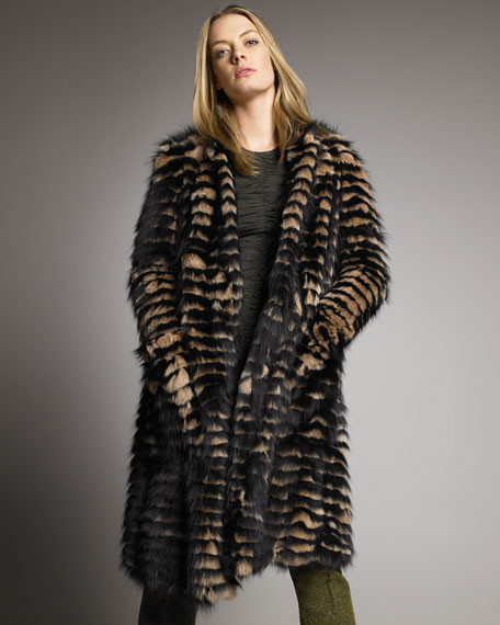 Striped Fox Coat