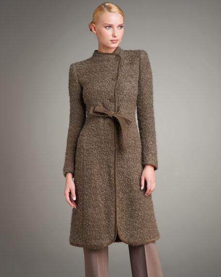 Boucle Jersey Tie-Waist Coat