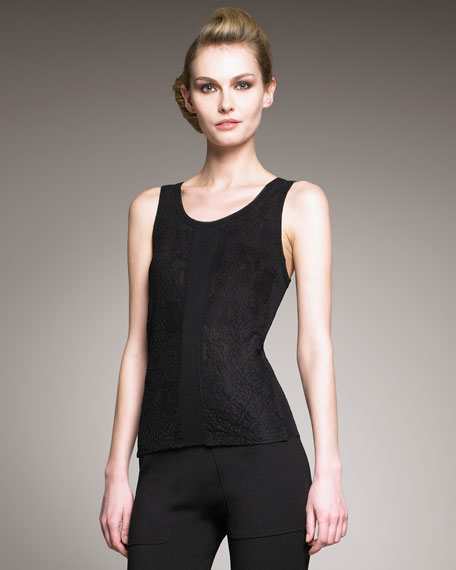 Lace-Panel Tulle Tank