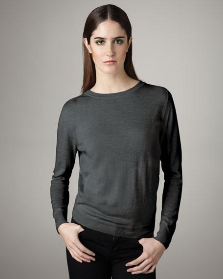 Draped Open-Back Sweater