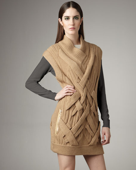 Cable-Knit Pullover Tunic