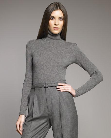 Turtleneck Sweater, Medium Gray
