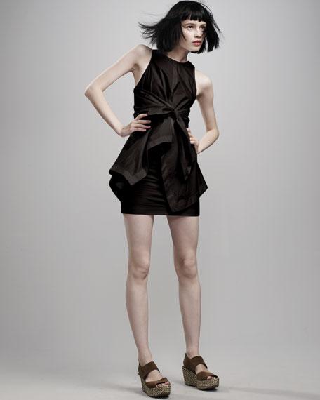 Cotton Tie-Waist Dress