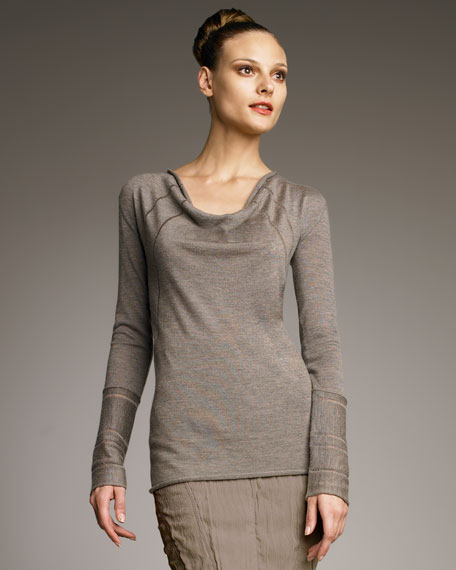 Cashmere Cowl Top