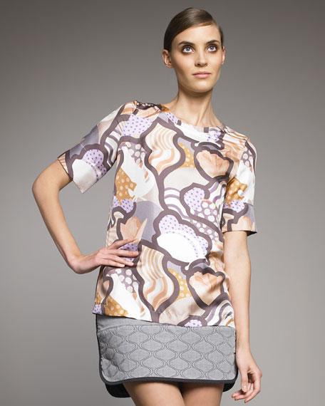 Multi-Printed Silk Blouse