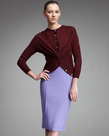 Seam-Detail Pencil Skirt