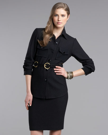 Boucle-Knit Skirt