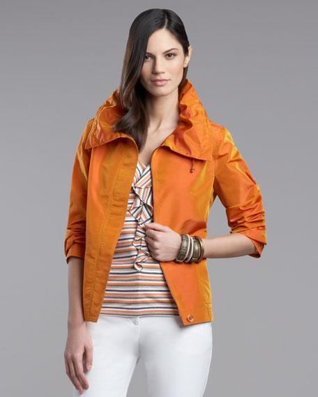 Iridescent Drawstring Jacket