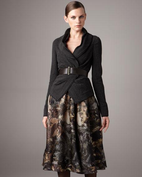 Abstract-Print Skirt