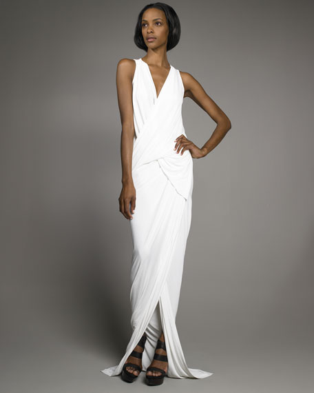 Superfine Jersey Draped Gown