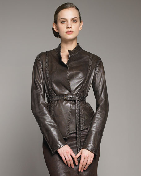 Whipstitch Belted Jacket