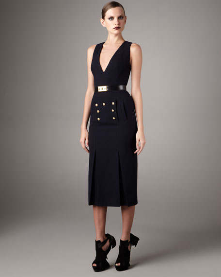 Midi Sailor-Button Dress