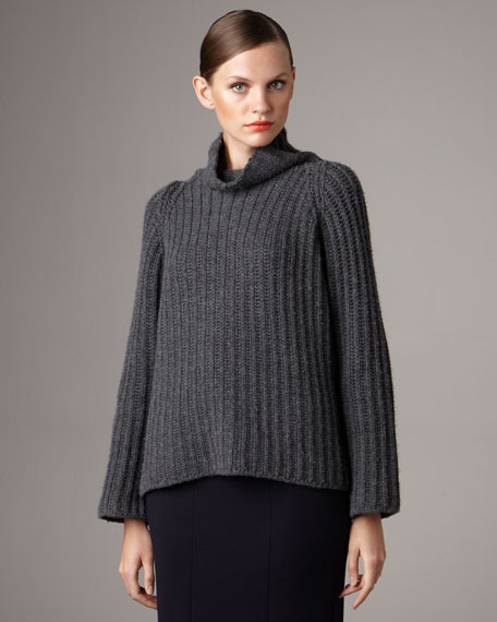 Elbow-Patch Oversized Cashmere Sweater