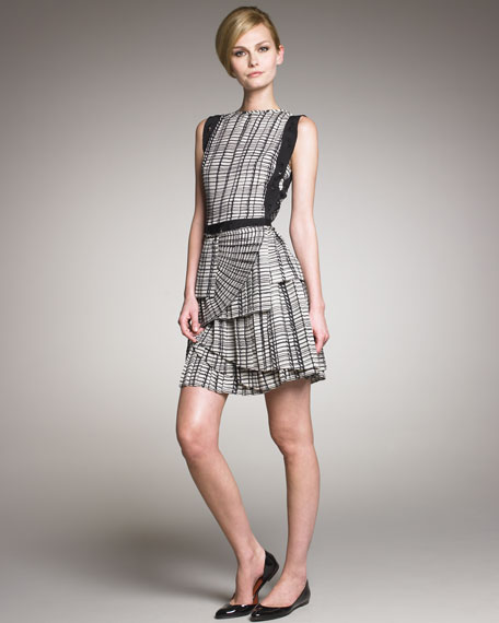Layered Plisse Skirt Dress