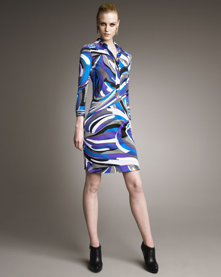 Printed Polo Dress