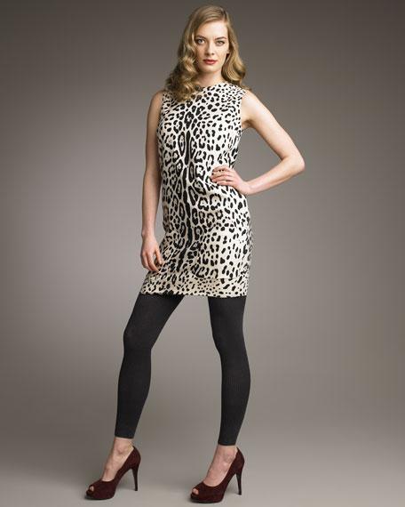 Leopard Dress, Ivory