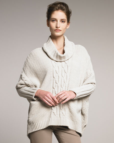 Boxy Turtleneck Sweater