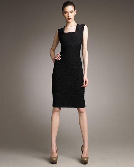 Wackford Bi-Fabric Dress