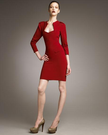 Helena Fold-Detail Dress