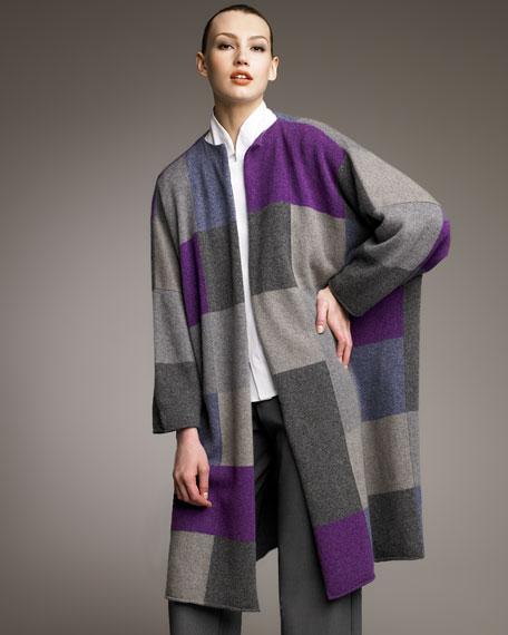 Patchwork Cashmere Cardigan Coat