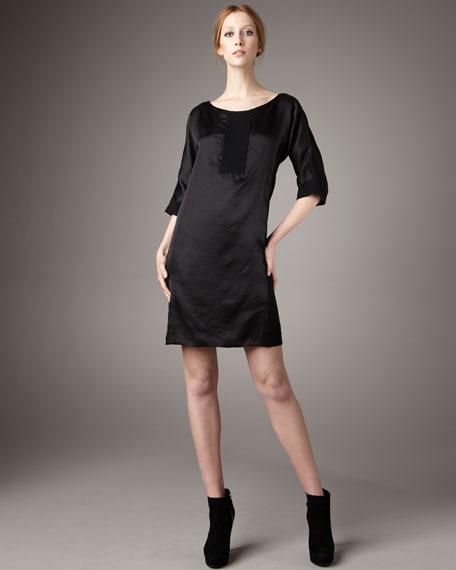 Combo Fabric Shift Dress