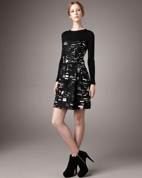 Fil Coupe & Jersey Dress