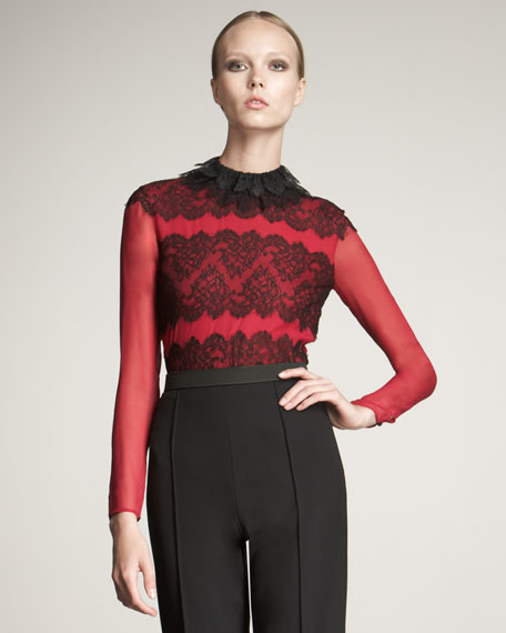 Lace Collared Blouse