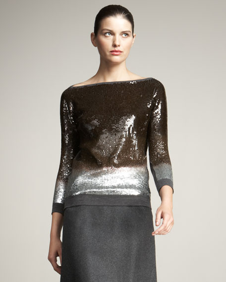Ombre Sequin Sweater