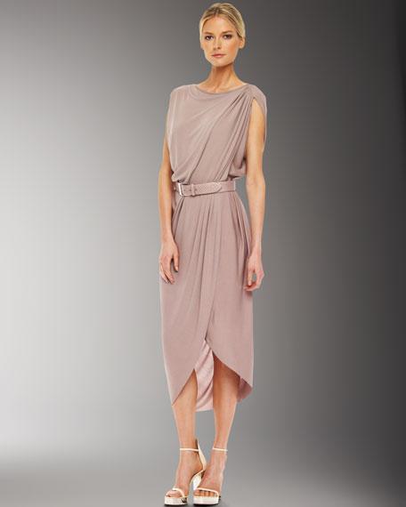 Crepe Jersey Drape Dress