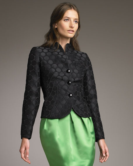 Macro-Dot Jacquard Jacket