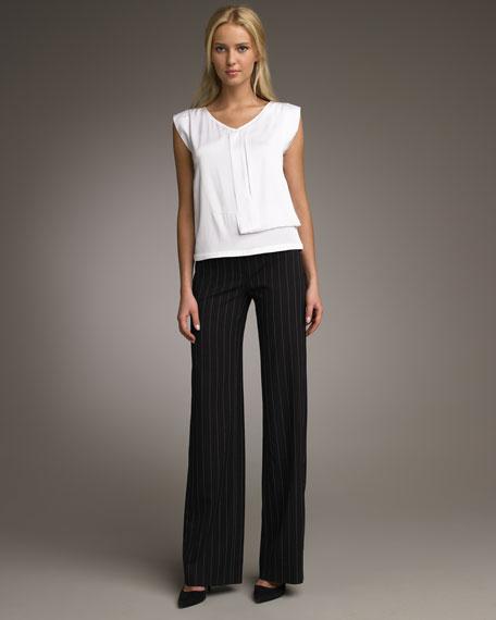 Chalk-Stripe Classic Pants