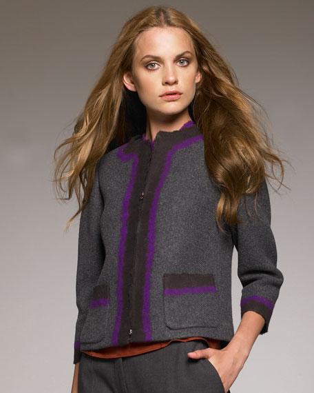 Zip-Front Colorblock Jacket