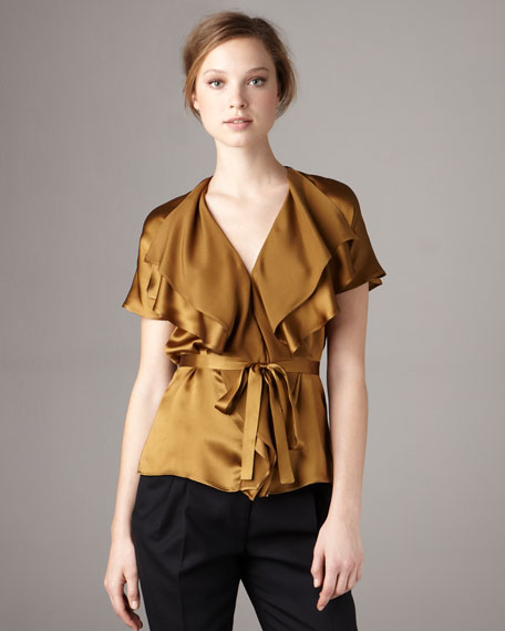 Belted Ruffle Top