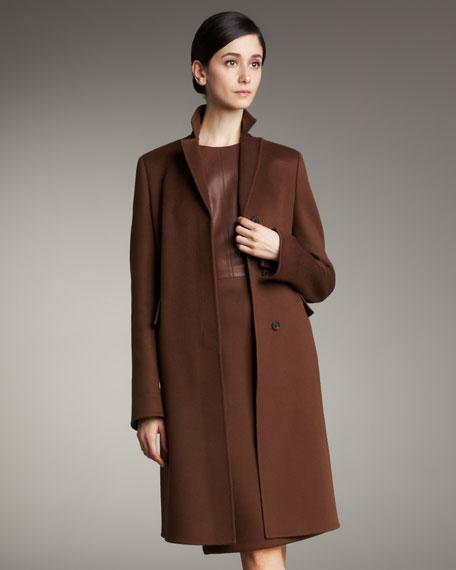 Blazer-Collar Cashmere Coat