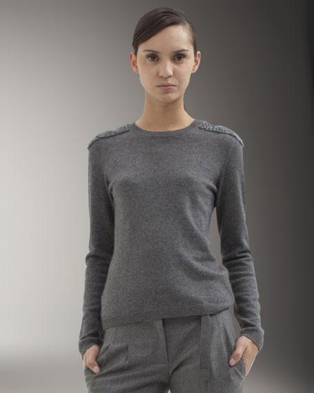 Shoulder & Elbow-Detail Sweater