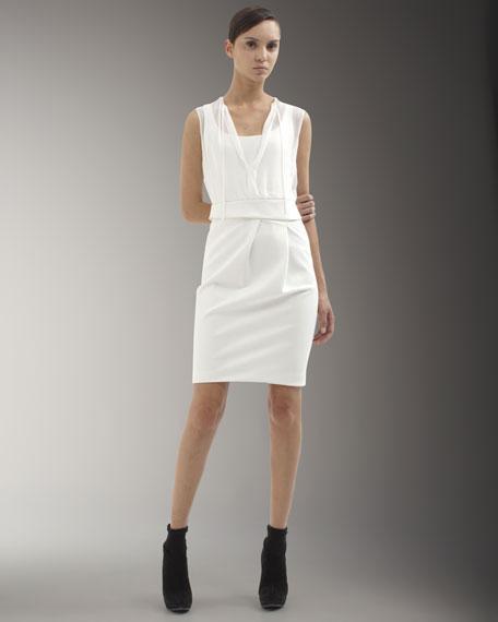 Sheer-Top Sheath Dress