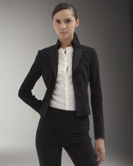 Short-Back Tuxedo Jacket