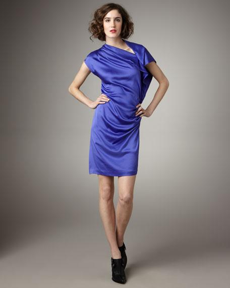 Sand-Wash Side-Drape Dress
