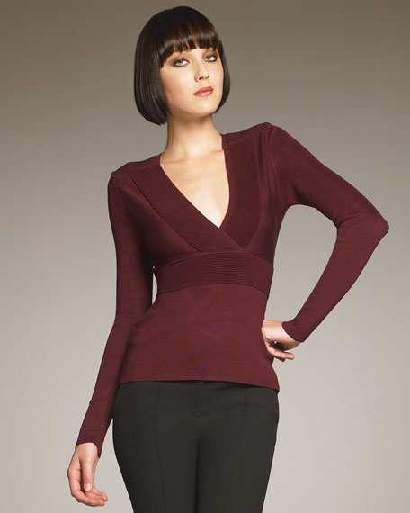 Ruched-Band Sweater