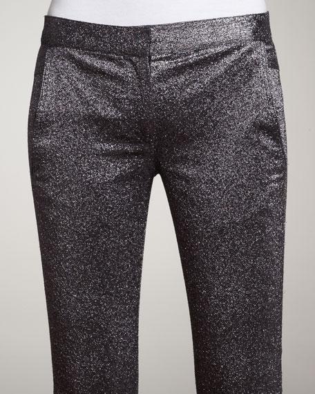 Slim Metallic Pants, Slate