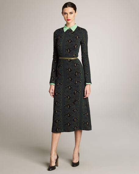 Python-Print Knit Dress