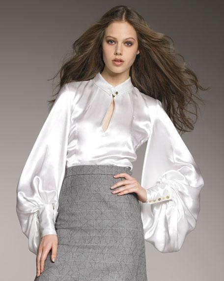Белая Нарядная Вечерняя Блузка Купить
