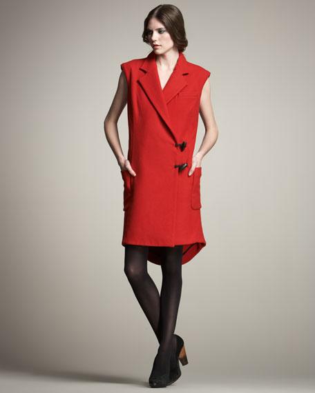 Flannel Vest-Illusion Dress