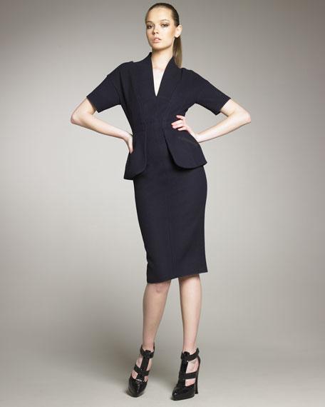 Wool Peplum Dress