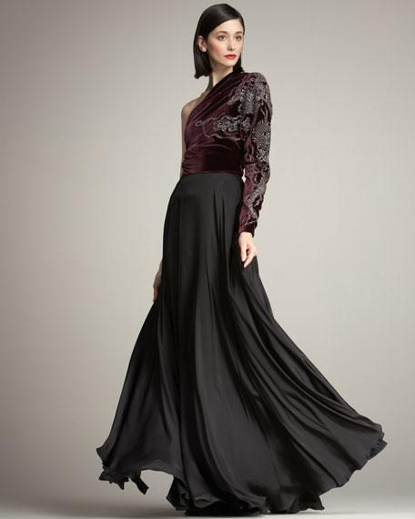 Lenora Fluid Silk Skirt