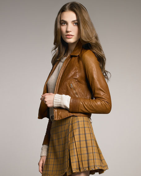See by Chloe Cropped Leather Jacket