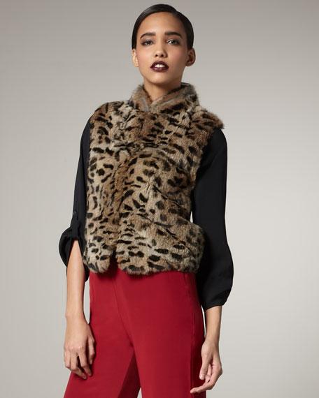 Gabor Leopard-Print Fur Vest