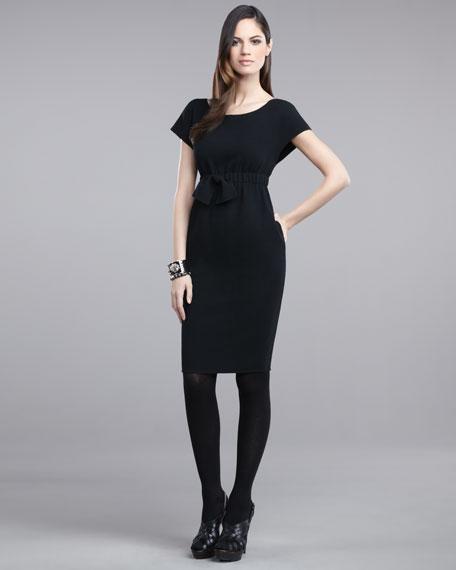 Bow-Waist Sheath Dress