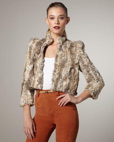 Cropped Faux-Fur Coat